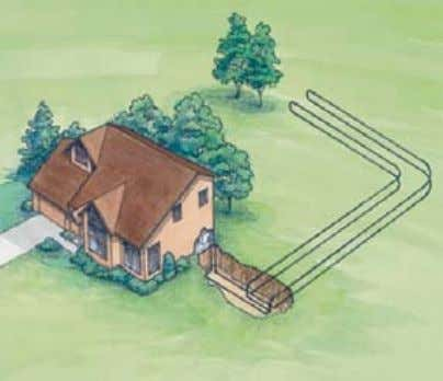 thermal energy that heats or cools the home or building. The ground serves as a giant