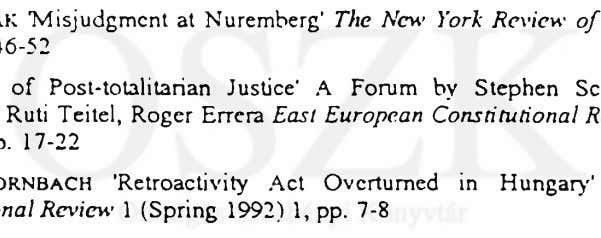 at Nuremberg' The New York Review 1993, DWORKIN 'Introduction' in Nunca Mas of Books 7