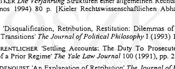 The Journal of Political Philosophy I (1993) 1, pp. 17-44 Diane F. ORENTL1CHE R 'Settling Accounts: