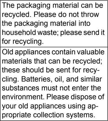 The packaging material can be recycled. Please do not throw the packaging material into household