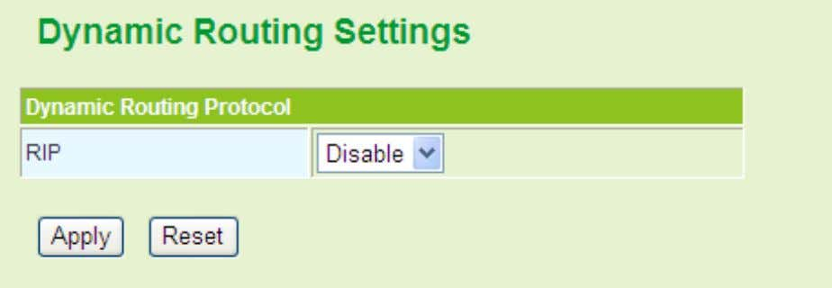 to delete one rule, choose the rule Dynamic Routing Settings You may enable or disable th
