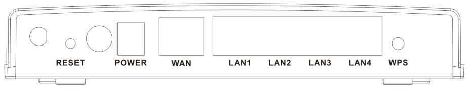 No LAN connection. 2.2 Rear Panel and Interface Description The following table describes the interfaces or