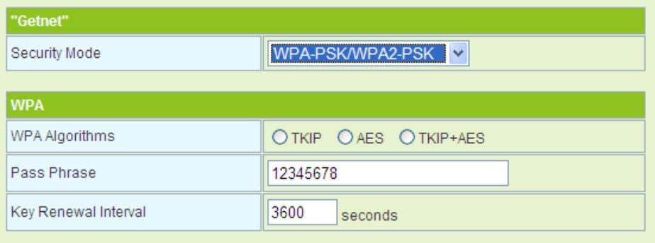 - WPA-PSK/WPA2-PSK The WPA2-PSK . parameters' description of WPA-PSK/WPA2-PSK - WPA1/WPA2-Enterprise mode, please