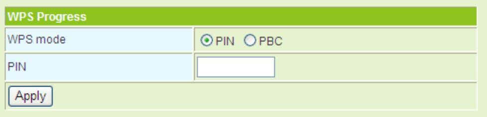 WPS modes include PIN Applications . WPS Status and PBC. For more details, please refer