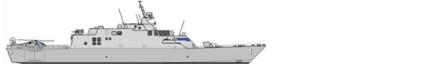 Cost: $194M (avg. in FY-78) (source: Global Security.org) Littoral Combat Ship (LCS) Length: 378 ft &