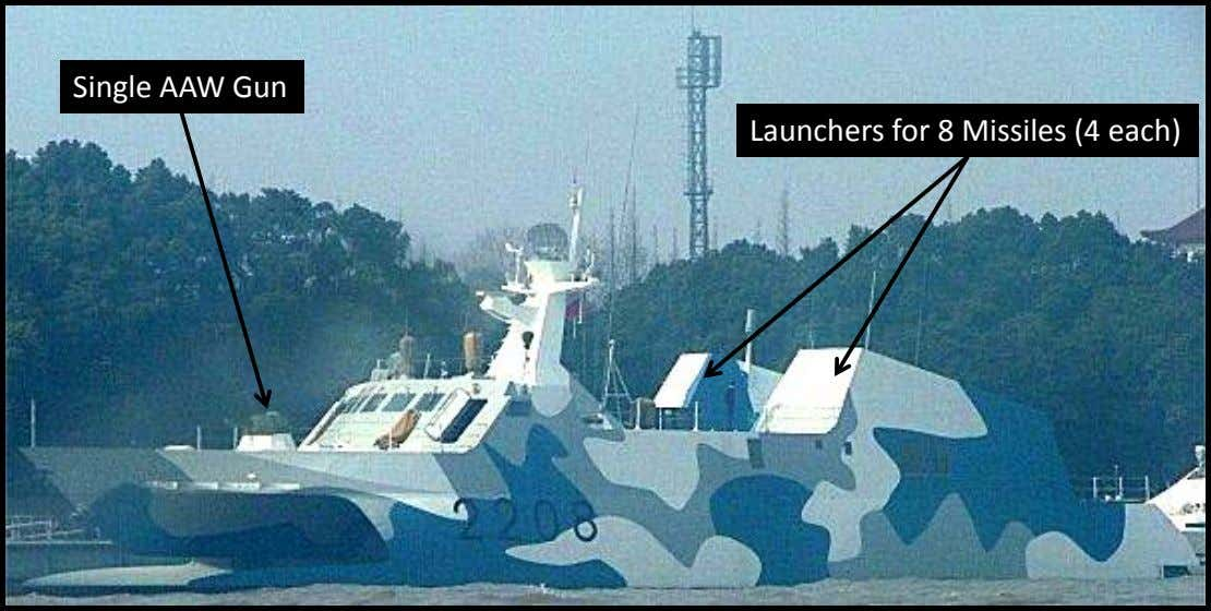 Single AAW Gun Launchers for 8 Missiles (4 each)