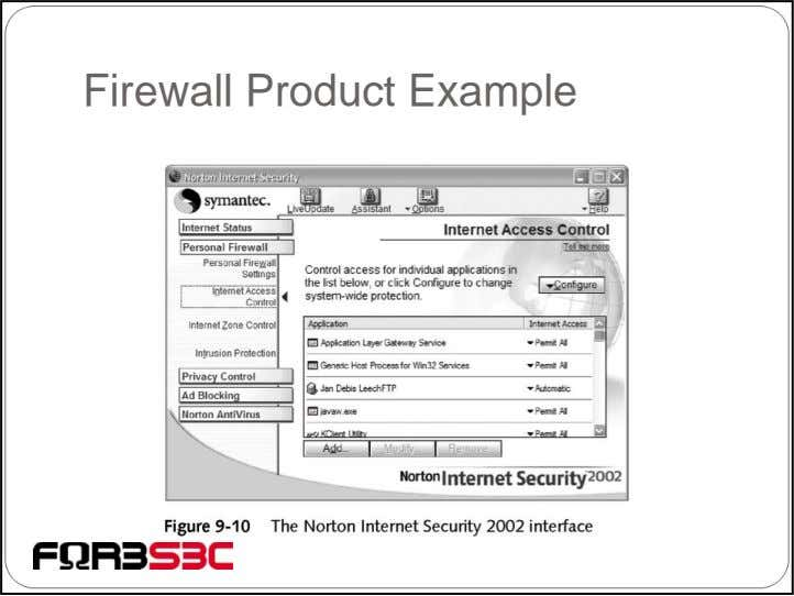 Firewall Product Example