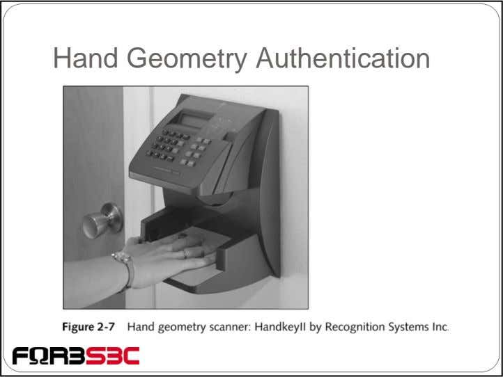 Hand Geometry Authentication