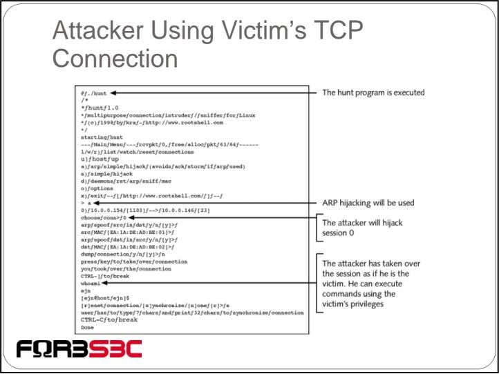 Attacker Using Victim's TCP Connection