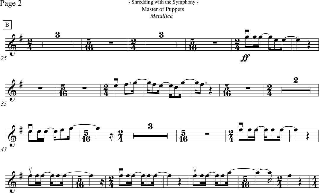 Page 2 - Shredding with the Symphony - Master of Puppets Metallica B 3 3