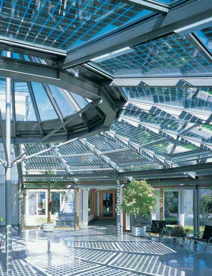 6 6 0 0 + + Lichtdachkonstruktion mit PV-Isolierglas-Modulen Skylight construction with PV insulating glass modules