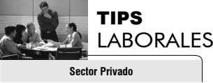 TIPS LABORALES Sector Privado