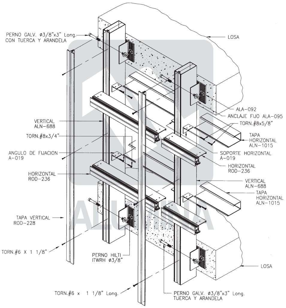 Curtain Wall Wall Heavyweight Heavyweight 45 45 Series Series Diagrama de componentes Component's diagram 5-9
