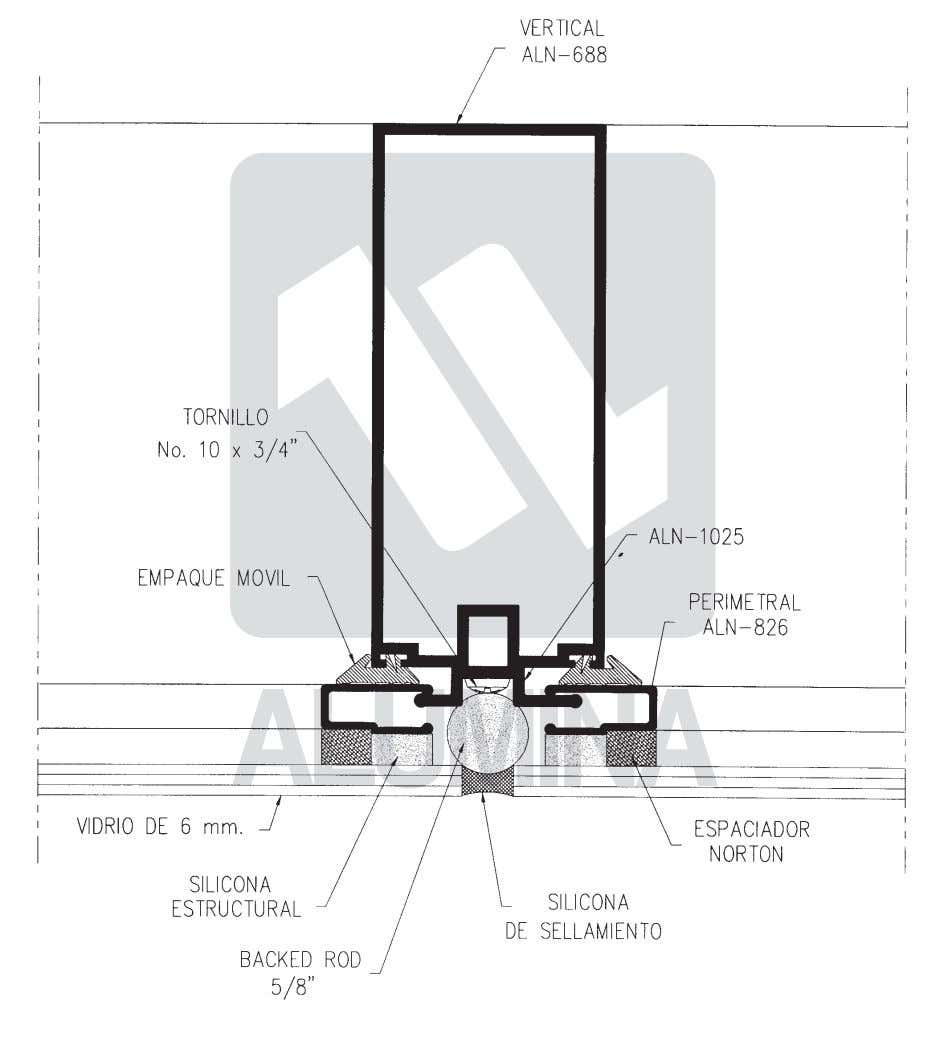 Curtain Curtain Wall Wall Heavyweight Heavyweight 45 45 Series Series Vertical típico / Vertical type 6-2