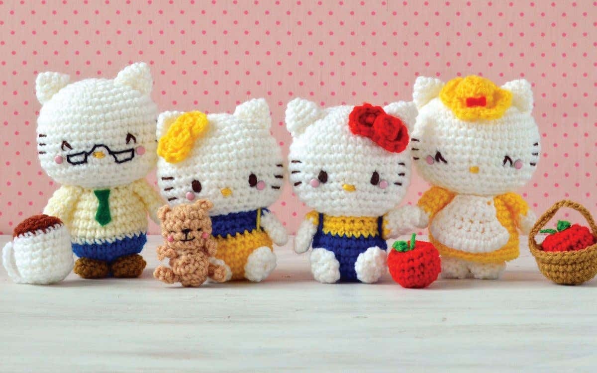 kkkkkkk Mimmy's Teddy Bear Bonus Pattern from Hello Kitty Crochet by Mei Li Lee Use