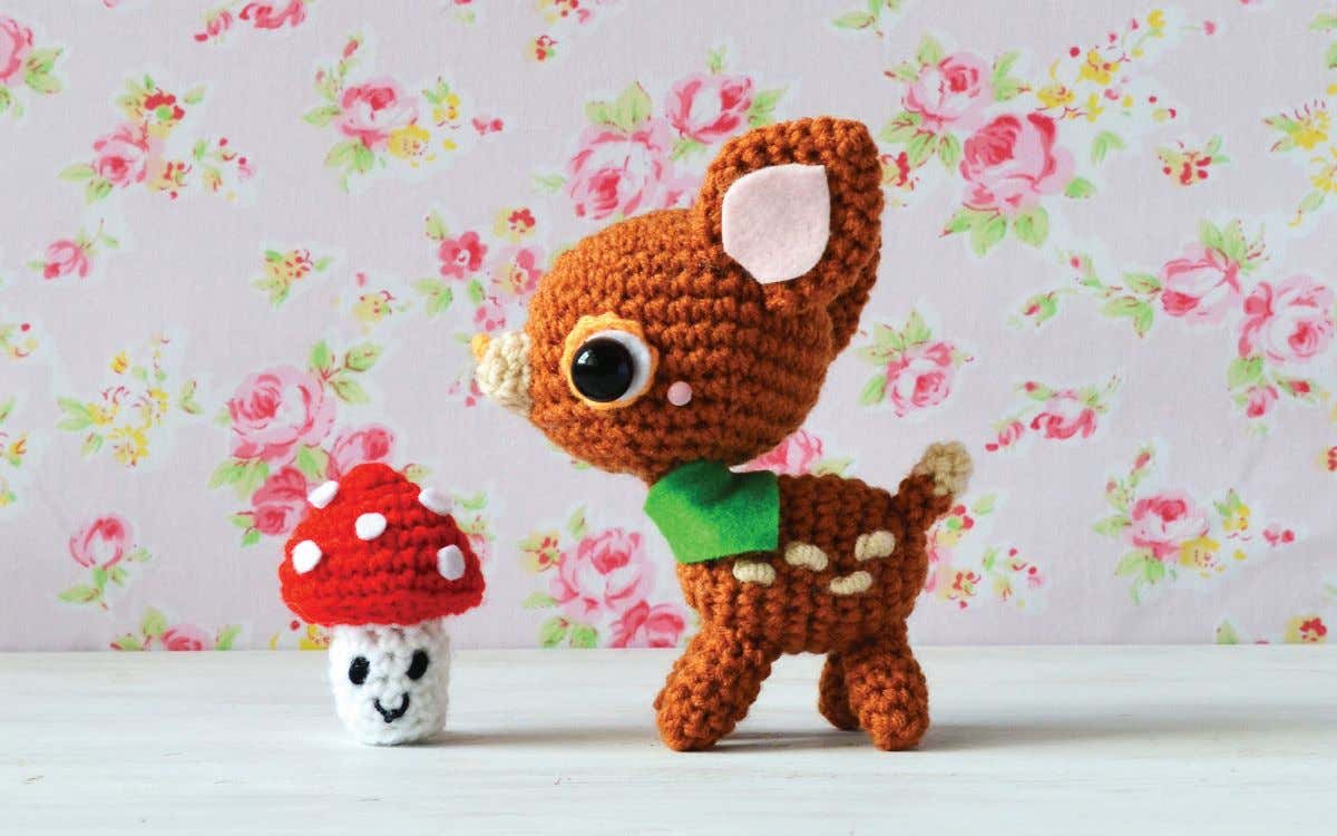 kkkkk kkkkk Deery-Lou's Red Mushroom Bonus Pattern from Hello Kitty Crochet by Mei Li Lee