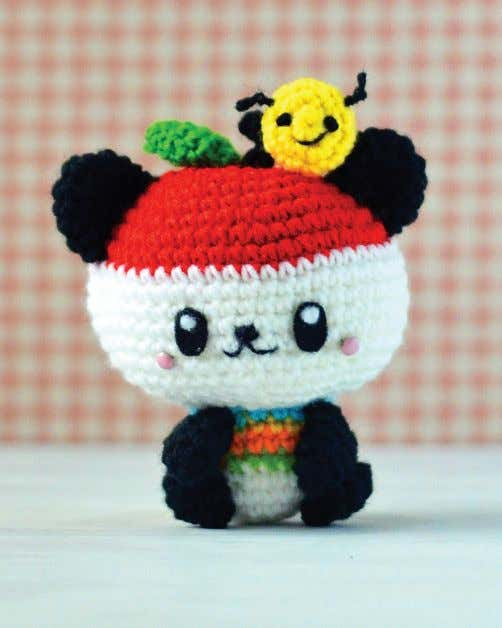 yarn. Use a black ballpoint pen to lightly dot the eyes. kkkkk Pandapple's Bee Bonus Pattern