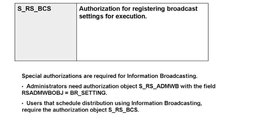 and are pr otected with authorizations object RSANPR. The only authorization necessary for the online execution