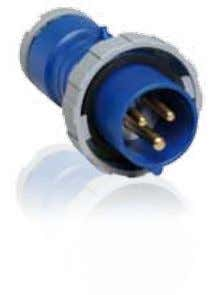 Plugs 16 A, IP 67 Watertight Enclosure in thermoplastic polyester (PBT). Cable entry with compression gland.