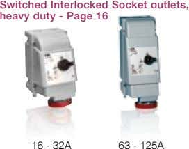 Switched Interlocked Socket outlets, heavy duty - Page 16 16 - 32A 63 - 125A