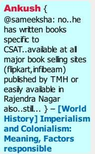Ankush { @sameeksha: no he has written books specific to CSAT available at all major
