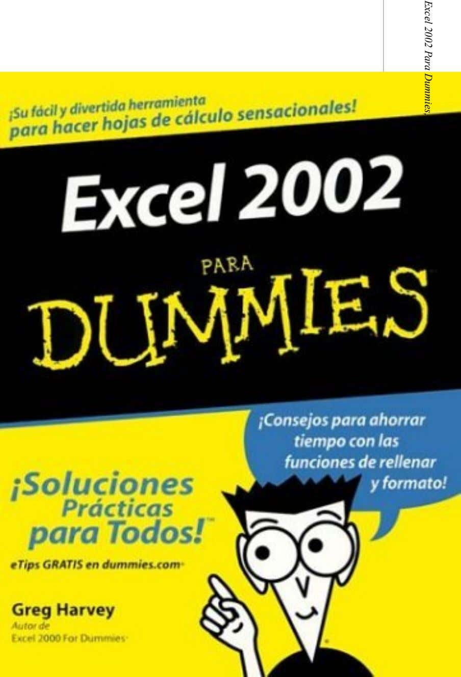 Excel 2002 Para Dummies, Spanish Edition