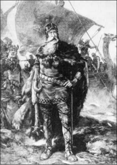 for their keep by serving in the lord's army. For now, Lithograph of a Viking warrior.