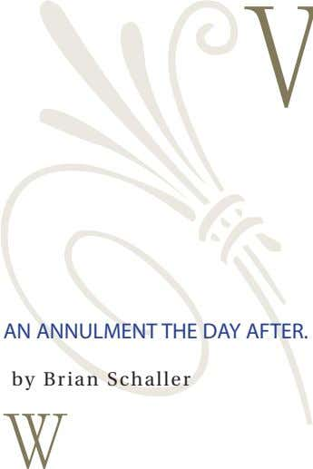 an annulment the day after. by Brian Schaller