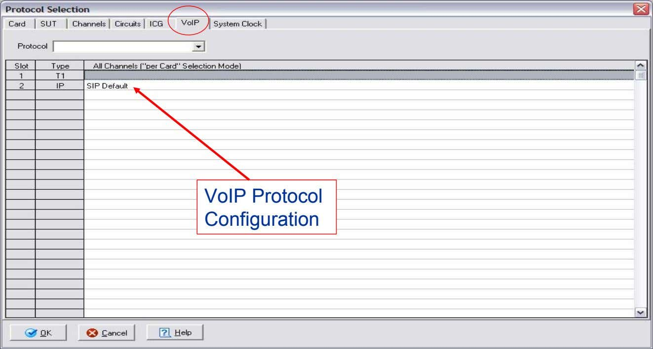 VoIP Protocol Configuration