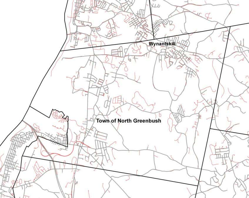 of new roads in the town of North Greenbush. Figure 13 The following six photographs show