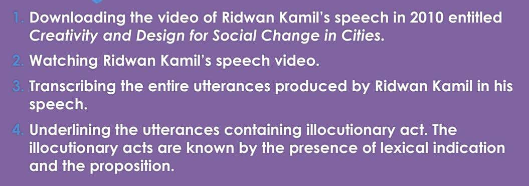 1. Downloading the video of Ridwan Kamil's speech in 2010 entitled Creativity and Design for