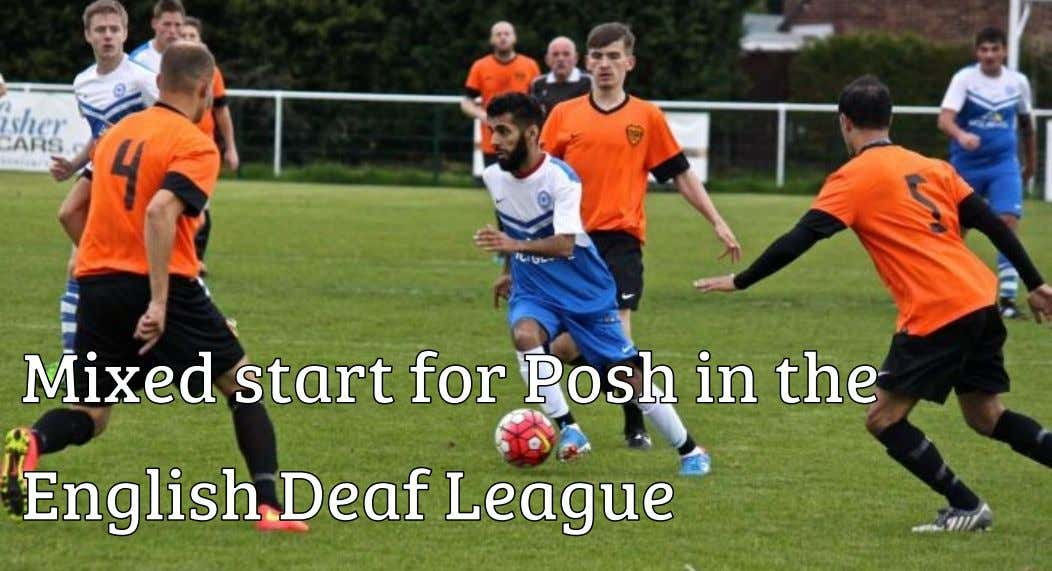 Peterborough United's deaf football were defeated by a late Barnet goal in the English Deaf