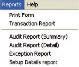 menu in MYOB BASlink and choose the report you require. Audit reports (Summary) and (Detail) The