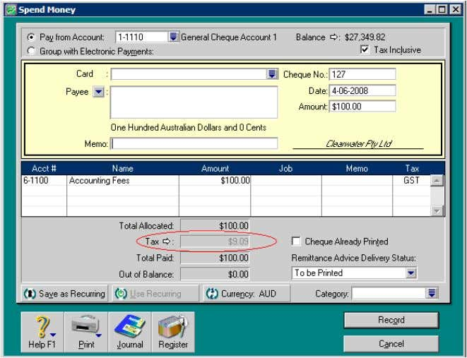 Tax zoom arrow in a transaction and have adjusted the tax amount that was automatically calculated
