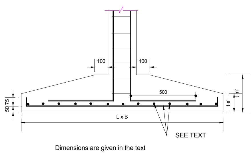 100 100 500 L x B SEE TEXT Dimensions are given in the text 50