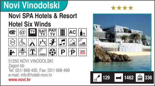Novi Vinodolski ★★★★ Novi SPA Hotels & Resort Hotel Six Winds TV 51250 NOVI VINODOLSKI