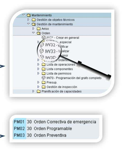 Orden y Notificacion en SAP PM. Instructor:   Estructura: la pantalla SAP Easy Access, es la