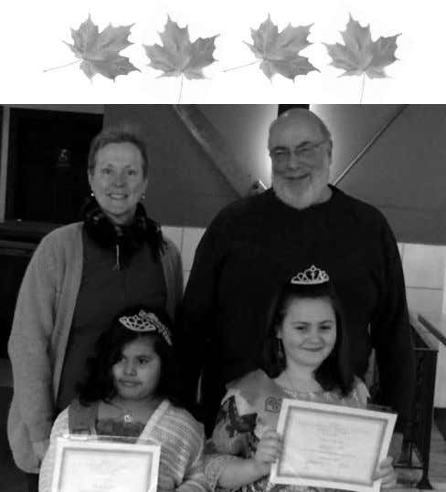be located behind the Community Garden. Continued on page 3 Congratulations to our 2015 Maple Princesses