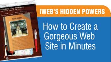 iWEB'S HIDDEN POWERS How to Create a Gorgeous Web Site in Minutes