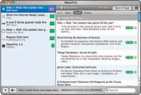 search capabilities and iTunes integration. —Andrew Tokuda NewsFire comes with a handful of RSS feeds at