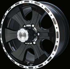 Off Road Kombat Kombat Series83 Chromed Black Lip Machined Dark Gloss 20 x 8,5 18 x