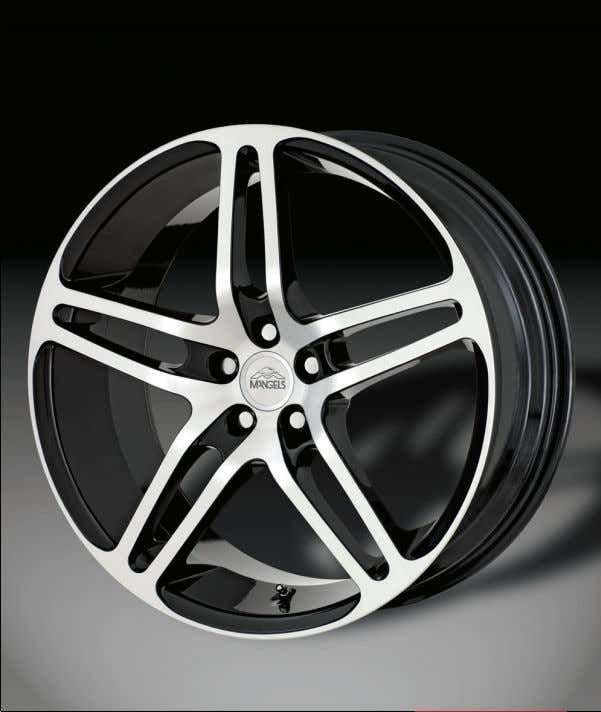 Motion Series85 Chromed Black Machined Dark Gloss 20 x 8,5 19 x 8,5 18 x 8