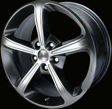 18 x 8 17 x 7 Chromed Dark Gloss Silver 16 x 7 15 x 6,5