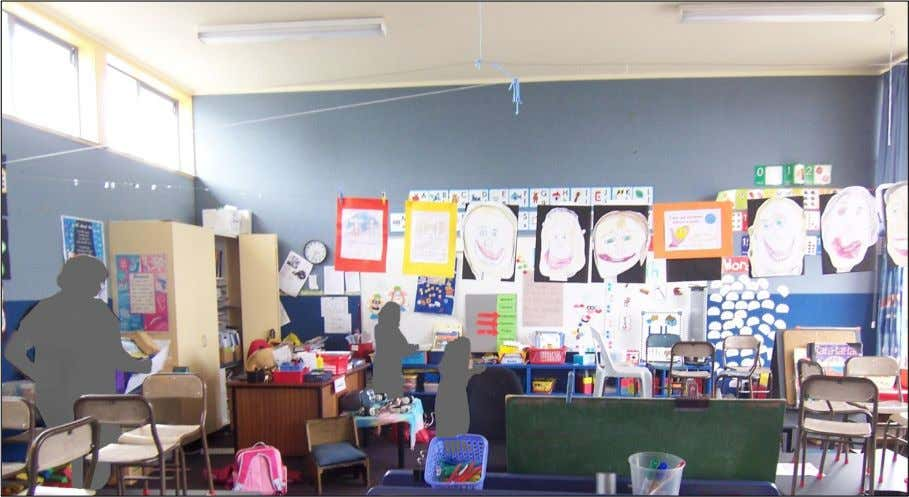 Figure 24: School E, view from the back of the classroom with the door to the