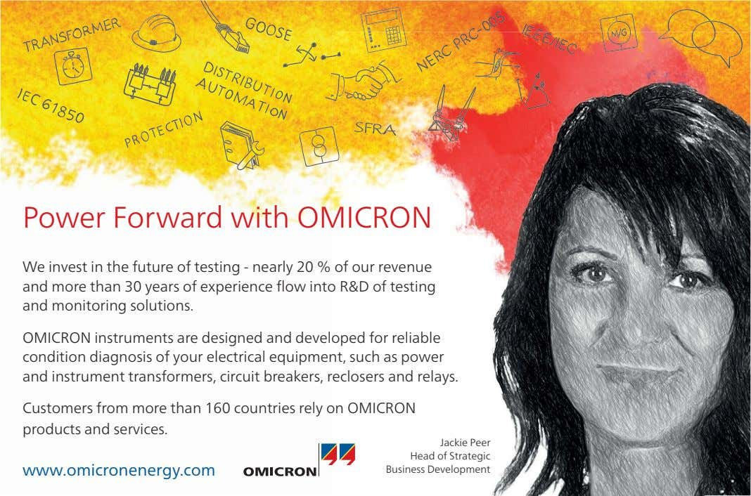 Power Forward with OMICRON We invest in the future of testing - nearly 20 %
