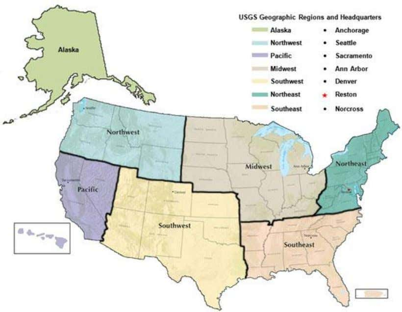 Southwest Regional Director – Pacific USGS Regional Structure vi U.S. Geological Survey 2018 Budget Justification
