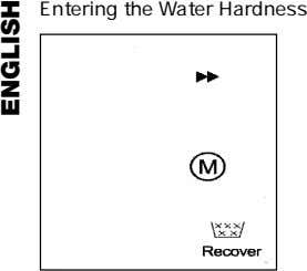 Entering the Water Hardness ENGLISH