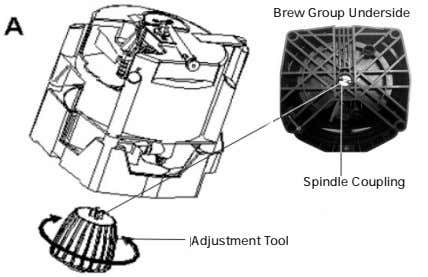 Brew Group Underside Spindle Coupling Adjustment Tool