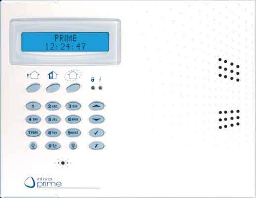 via PSTN or local USB ■ Attractive Cool Blue display INFP-LCDRKP LCD Remote Keypad ■ Blue