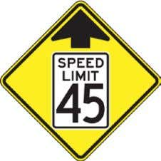 California Manual for Setting Speed Limits Figure 2-1: Speed Limit Sign R2-1 Appendices A-7 and A-8